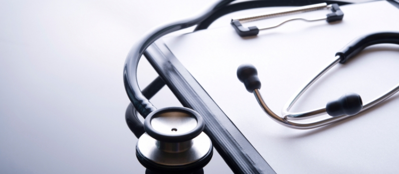 stethoscope on a clipboard